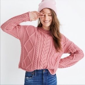 Madewell Slope CableKnit Pullover Sweater Small